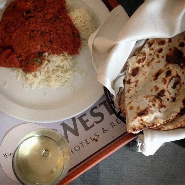 Good local fayre on the Westin Hyderabad room service menu!