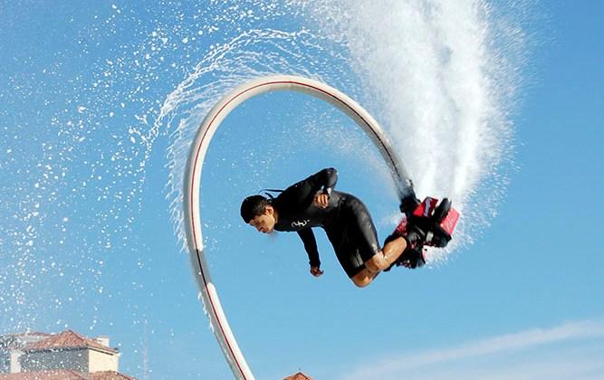 Alex on flyboard