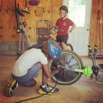 Fixing his brother's ride because he let the air out of the tires in order to win the race. Hard to be mad at such an ingenious plan.