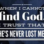 When I cannot find God, I trust that he's never lost me. #ignite2016 @ngucrusaders