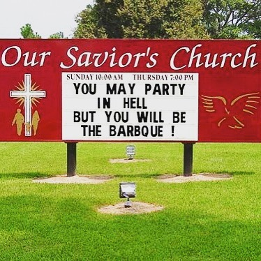BBQ time! 😳 #churchsigns