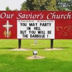 BBQ time! 😳 #churchsigns