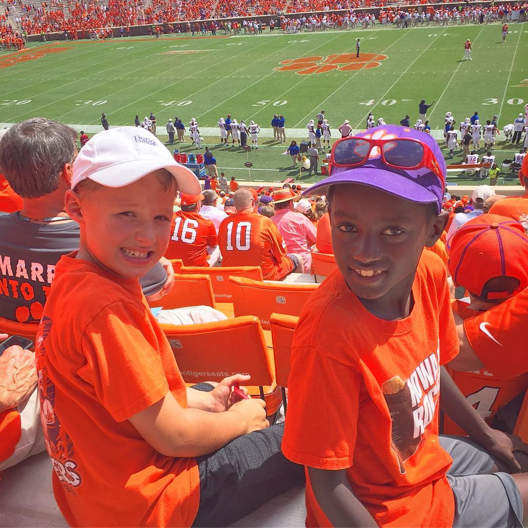 Two happy tigers! #clemsonfamily