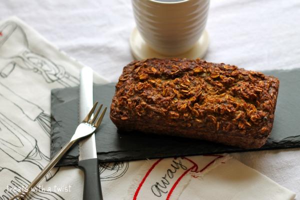Zucchini Oat Breakfast Loaf!