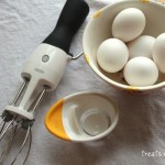 Macaroons are the perfect cookie for the new OXO egg tools! The separater gives you perfect, easy egg whites, and the hand-crank mixer fluffs up whites in no time!!