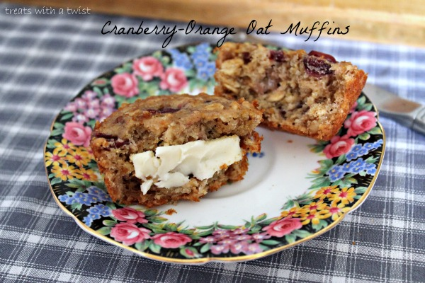 Cranberry-Orange Oat Muffins