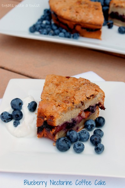 Blueberry Nectarine Coffee Cake