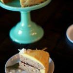 Almond Cake with Fig Jam and Coconut Butter Frosting #glutenfree treatswithatwist.com