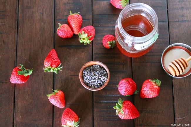 Strawberry Lavender Honey popsicles 1