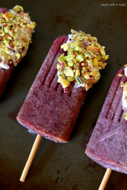 Cherry White Chocolate Popsicles 2