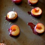 Roasted Plums with Yogurt and Honey // treatswithatwist.com
