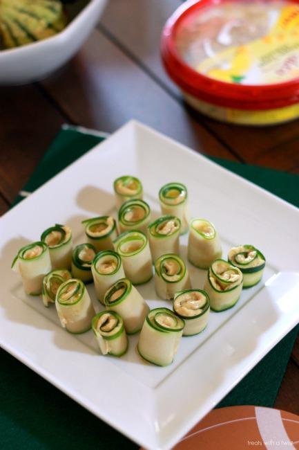 Sabra - Tailgating - Cucumber Rosemary Hummus Rollups