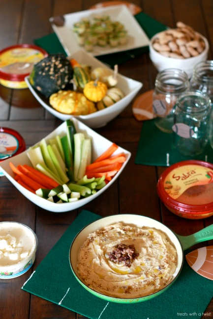 Sabra - Tailgating - Olive Tapanade Hummus Layer Dip 2 // treatswithatwist.com
