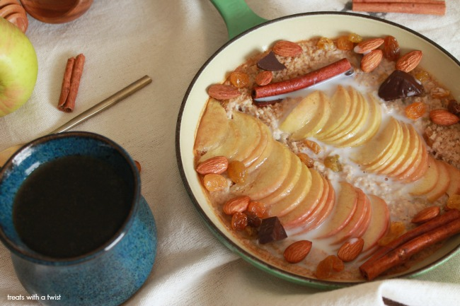 Baked Apple Cinnamon Steel Cut Oatmeal 5