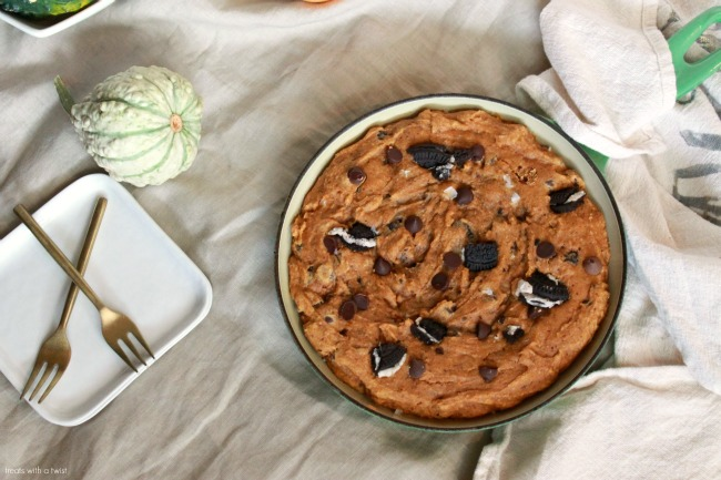Pumpkin Chocolate Chip Skillet Cookie 1