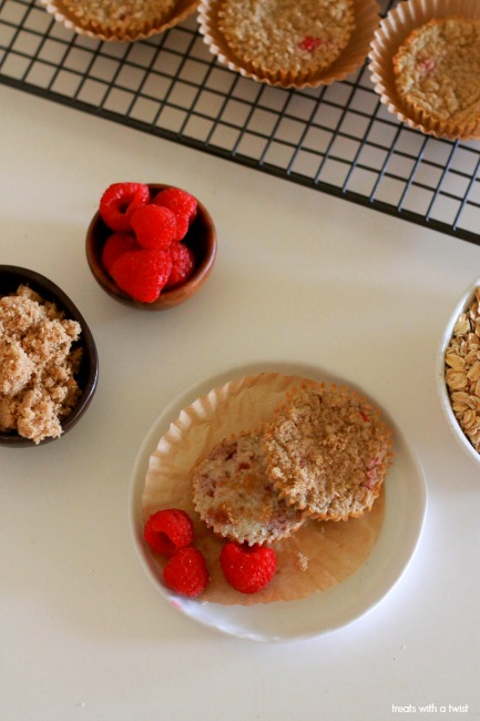 Raspberry Oatmeal Blender Muffins 1