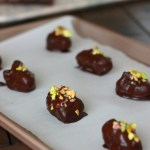 Tahini Stuffed Dates // treatswithatwist.com