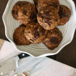 Chocolate Chunk Teff Oatmeal Cookies with Almonds and Cranberries // gluten free // treatswithatwist.com