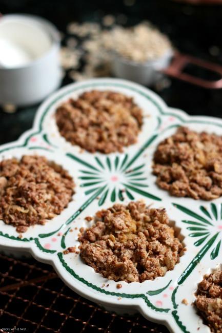 Pear Carrot Streusel Muffins // gluten free // treatswithatwist.com