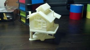 3D printed model of the Deer Haven Treehouse