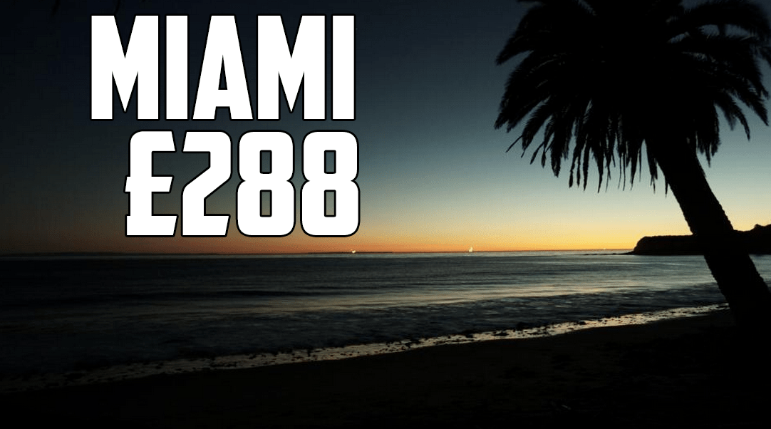 Manchester to Miami Direct Flights £288