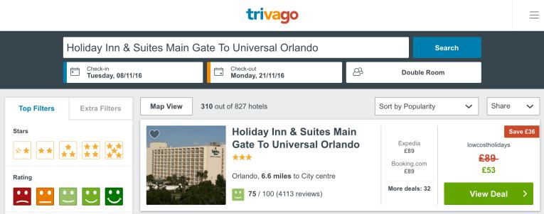 cheap resort in Orlando