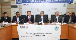 Picture 2 - Zong CEO and Chiramn HEC at MoU Sigining