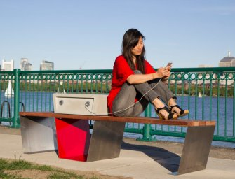 In Boston Solar-Powered Benches Called 'Soofas' Charge Phones