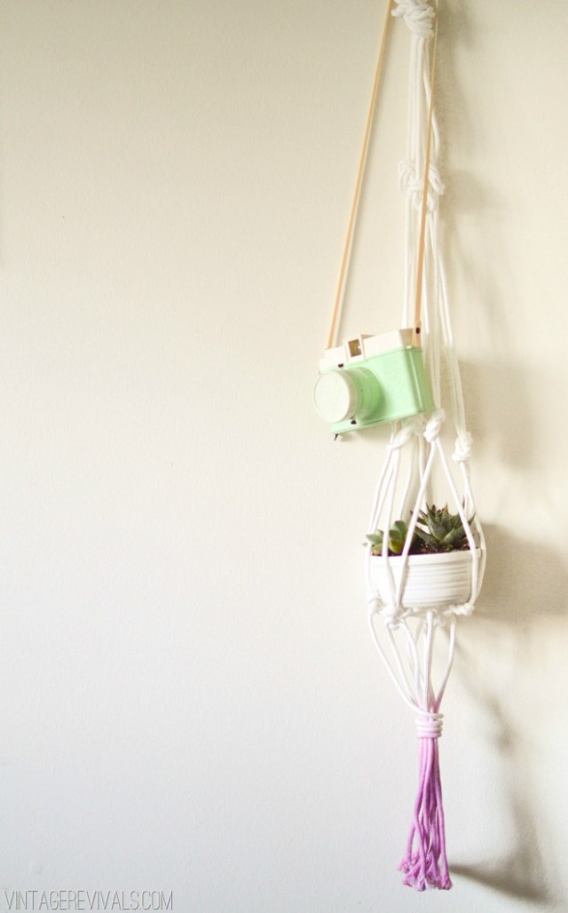 DIY suspension pour plantes