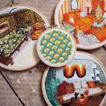 Hoop art : Used Threads Embroidery