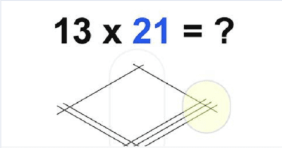 Multiplication Made Easier By Simply Drawing Lines