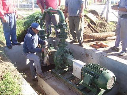 Trasladaron bomba de agua cerca de La Serenísima