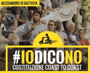 Di Battista per il NO al Referendum a Riva del Garda