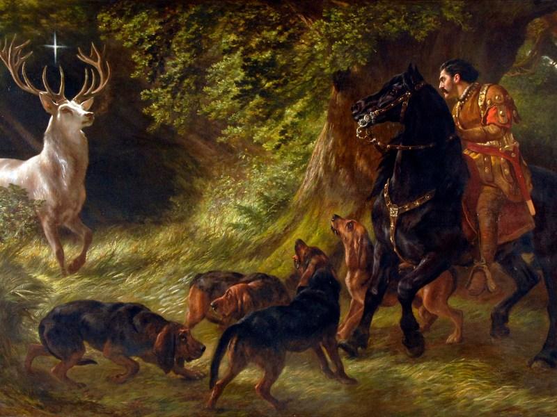 Samuel John Carter (1835-1892) Legend of St Hubert.