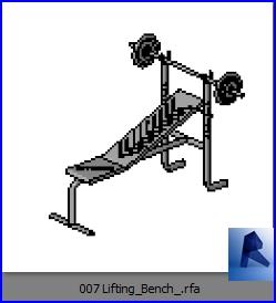 Familias para Revit | Gimnasio | 007 Maquina para brazos modelo 02