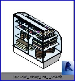 Familias para Revit | Tienda Implementos | 002 Mostrador de pasteles modelo 01
