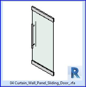 Familias para Revit | 37 Puertas corredizas | 04 Panel de muro cortina para puerta corrediza .rfa