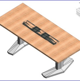 0161 Coalesse E tabla de base rectangular de aluminio .rfa