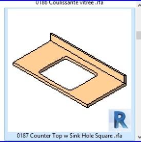 0187 encimera del fregadero w agujero cuadrado .rfa