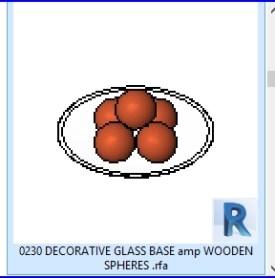0230 cristal decorativo BASE amp ESFERAS DE MADERA  .rfa