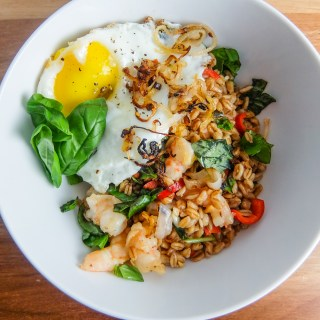 Spicy Shrimp and Farro Stir-Fry