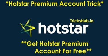Hotstar Premium Account Trick