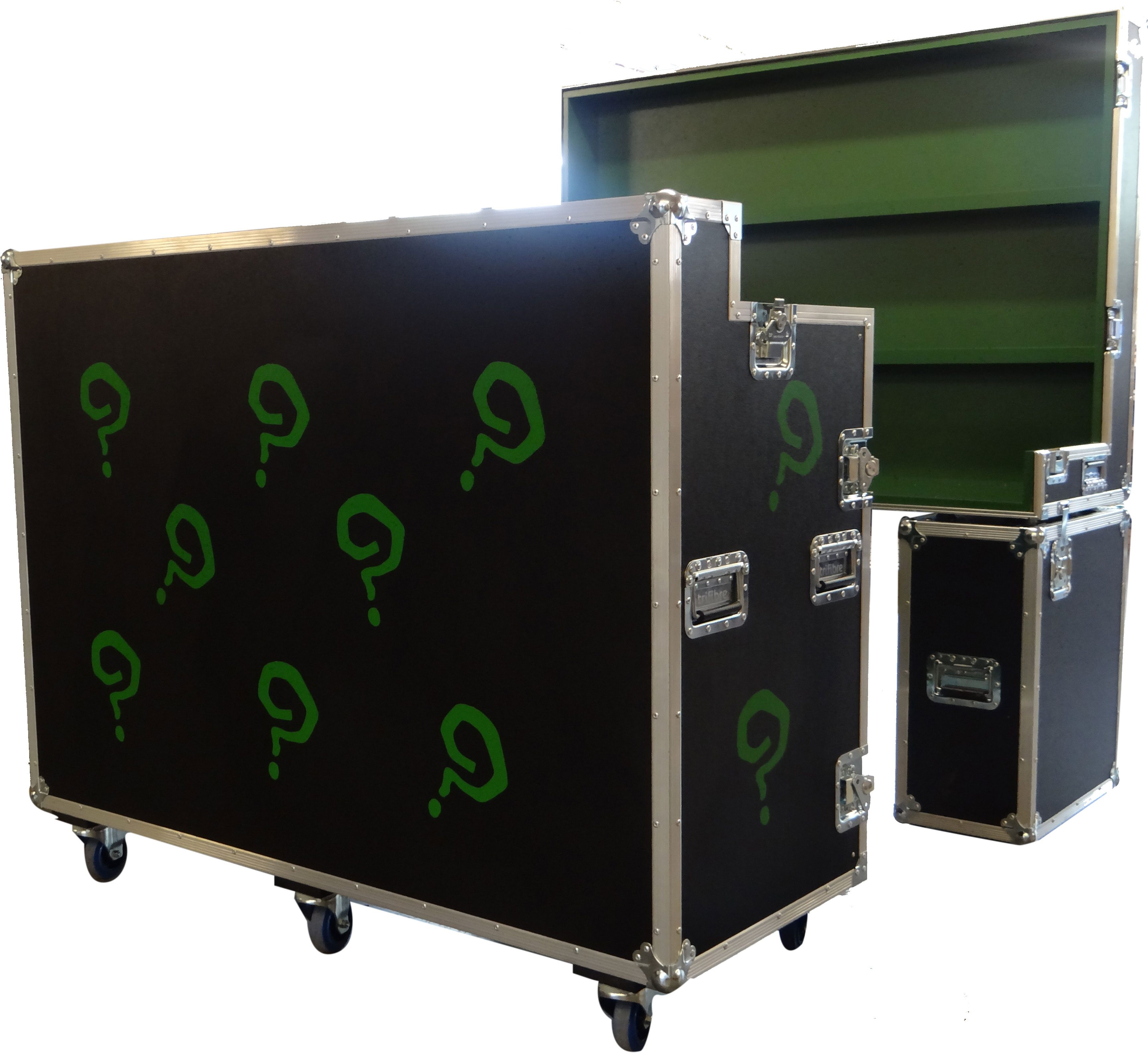 Custom Made Flight Case Bar with Screen Printed Customisation