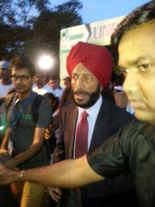 Milkha Singh arrives