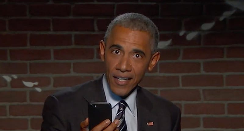 Obama reads Trump's mean tweets about him on 'Jimmy Kimmel Live!'