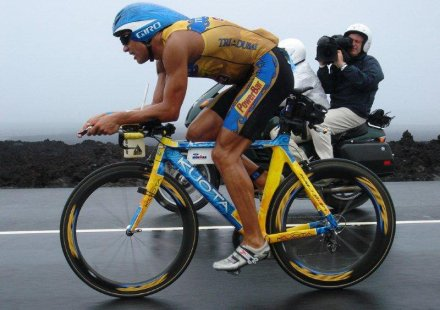 His bike record setting race was accompanied with