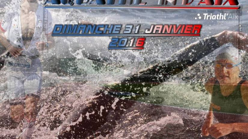 Au calendrier aquathlon d aix en province rouge et or for Piscine yves blanc