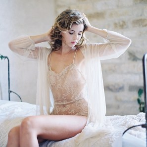 lace bridal robes