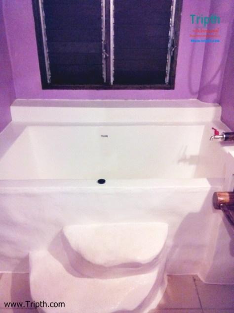 มีอ่างอาบน้ำด้วยนะ