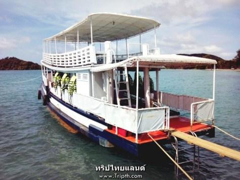 เรือที่จะพาเราไปดำน้ำ